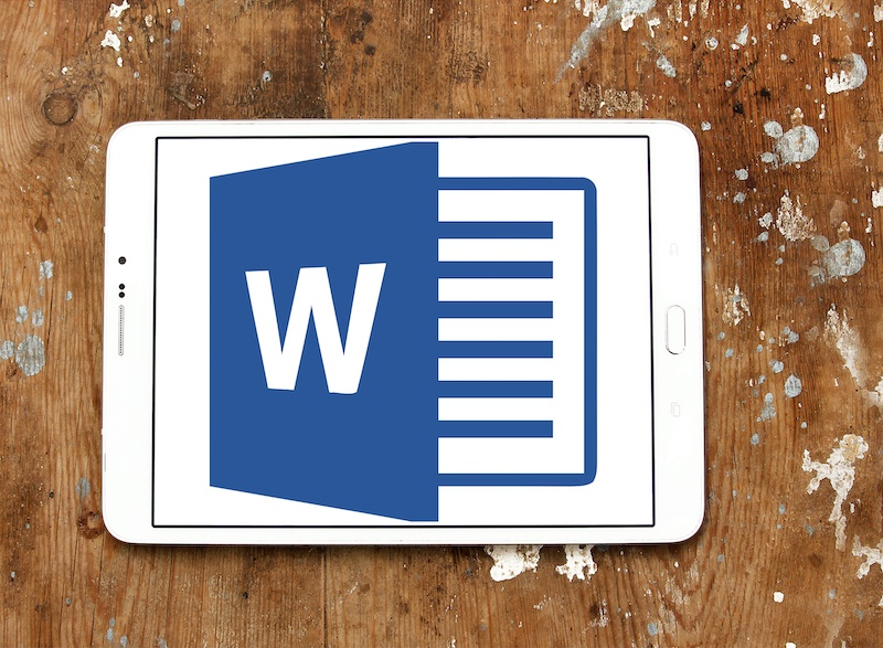 microsoft word on tablet
