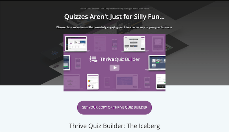 thrive quizz builder